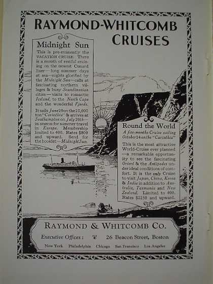 Raymond Whitcomb Cruises Midnight Sun – Round the world (1926)
