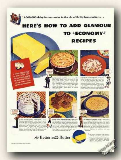 It's Better With Butter Antique Recipes Promo (1942)