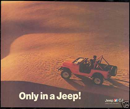 Jeep CJ Desert Dunes Photo Vintage (1985)