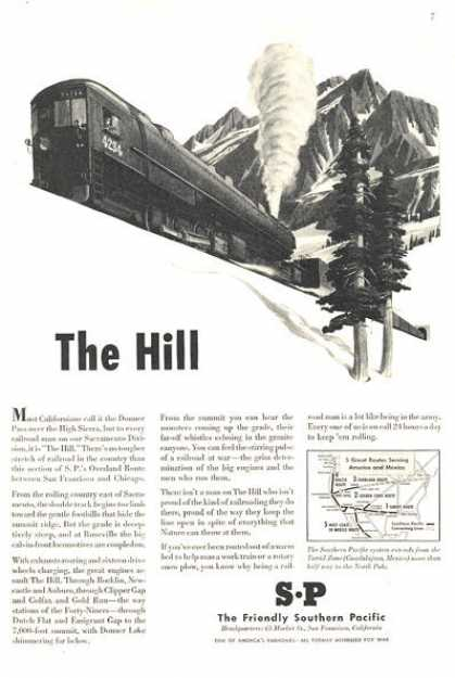 Southern Pacific Train High Sierra Pass (1949)
