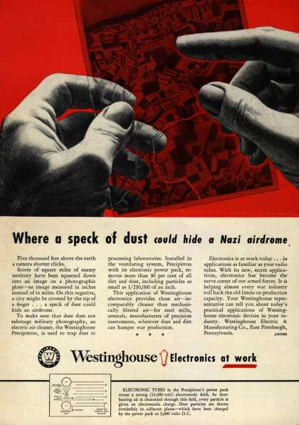 Westinghouse Electric & Manufacturing Co.'s Corporation – Where a speck of dust could hide a Nazi airdrome (1942)