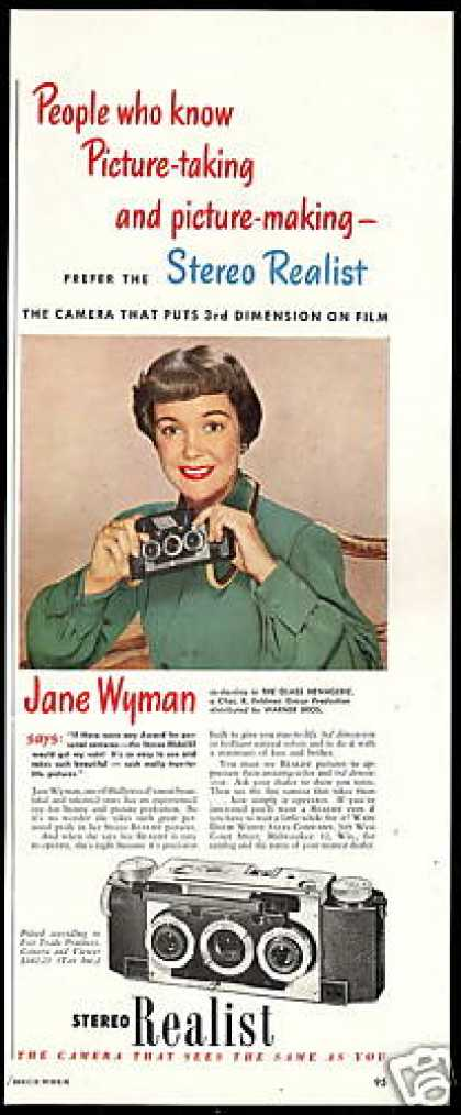 Jane Wyman Photo Stereo Realist Camera (1950)