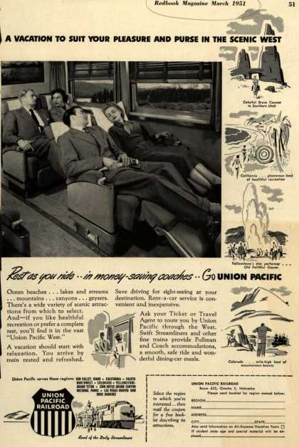 Union Pacific Railroad's Union Pacific West – A Vacation To Suit Your Pleasure And Purse In The Scenic West (1951)