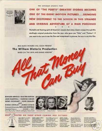 "Movie Ad ""All That Money Can Buy"" (1941)"