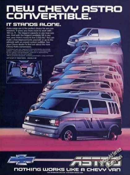 "Chevy Astro Van Photos ""It Stands Along"" (1985)"