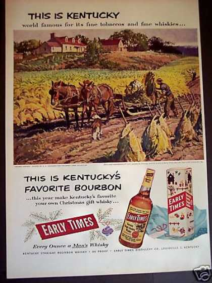 Early Times Kentucky Bourbon Horses (1952)