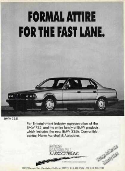 88 Bmw 735i Photo Formal Attire Fast Lane (1987)