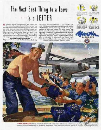 Next Best Thing To Leave Is Letter Wwii Martin (1945)