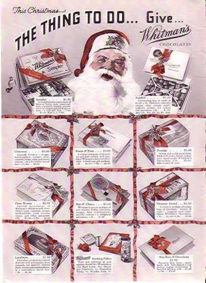 Whitman's Chocolates Christmas – Sold (1935)