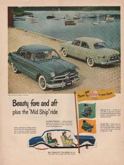 Beauty Fore & Aft Mid Ship Ride Ford Car A (1949)