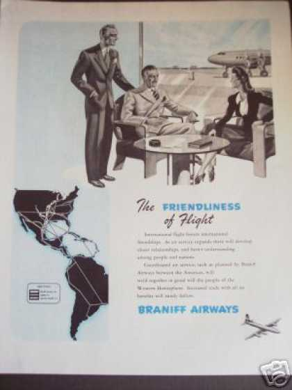 Braniff Airways Plane Airline Ad 07 (1945)