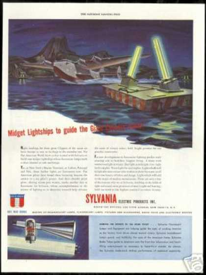 Sylvania Fluorescent Lights Pan Am Clipper (1944)