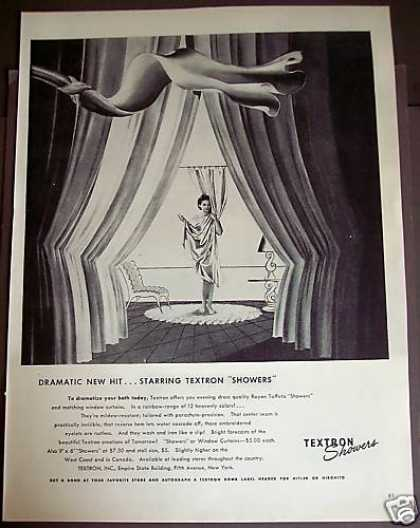 Textron Showers Curtains for Bathroom (1944)