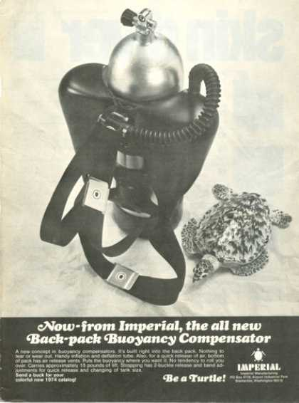 Imperial Turtle Back Pack Buoyancy Compensator (1974)