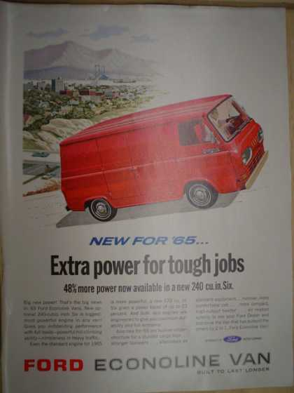 Ford Econoline Van. Extra power for tough jobs (1964)
