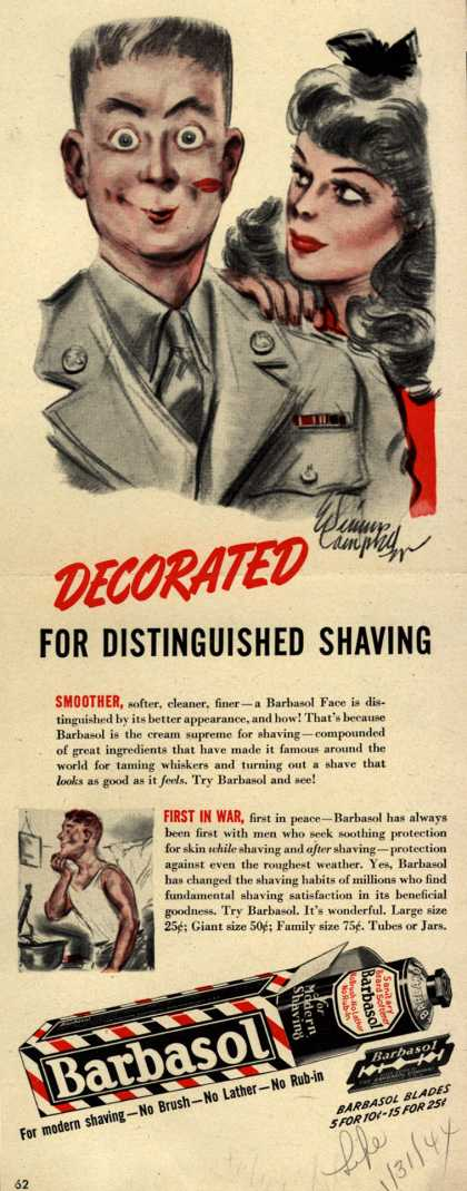 Barbasol – Decorated For Distinguished Shaving (1944)