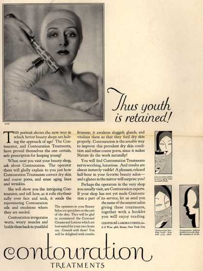 Contoure Laboratorie's Contouration Treatments – Thus youth is retained (1928)