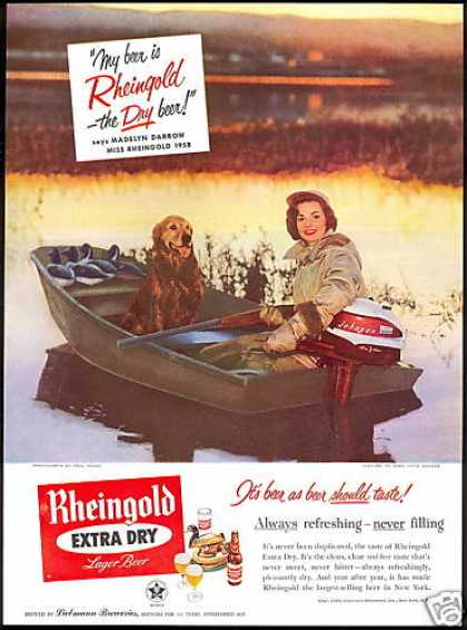 Miss Rheingold Darrow Beer Johnson Boat Motor (1958)