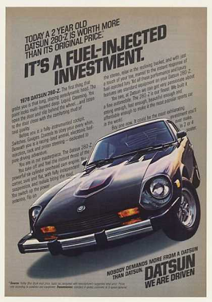 Datsun 280-Z Fuel-Injected Investment Photo (1978)