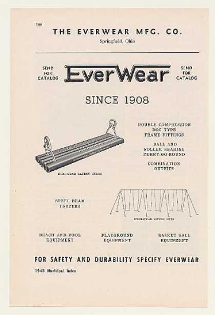 EverWear Springfield Ohio Swing Set Safety Seat (1948)