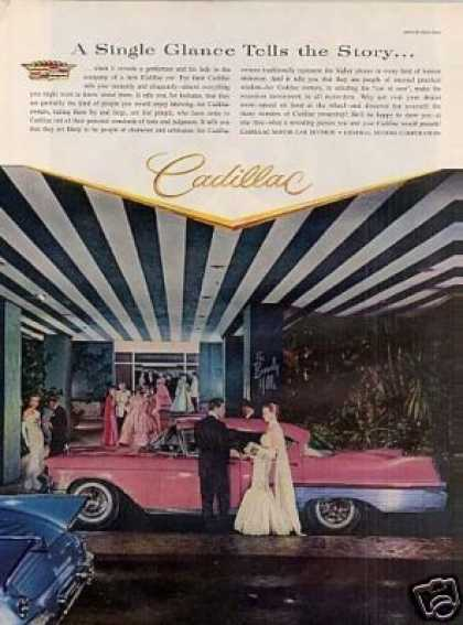 "Cadillac Car Ad ""A Single Glance... (1957)"