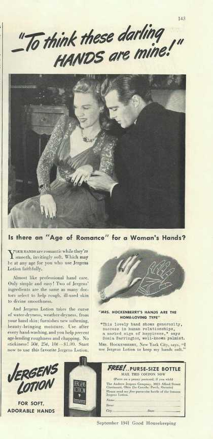 Jergens Soft Adorable Hands Lotion (1941)