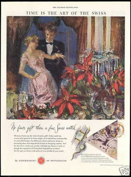 Watch Watchmakers of Switzerland Poinsettia Art (1950)