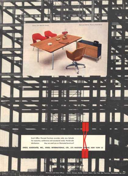 Knoll Desk Chair Furniture Cabinet Florence (1957)