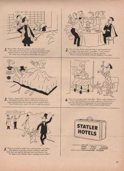 Statler Hotels Cartoon (1949)
