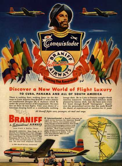 Braniff International Airway's Latin America – Discover a New World of Flight Luxury (1949)