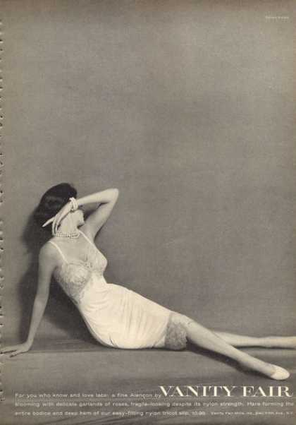 Vanity Fair Lace Alencon Sleep Fashion Slip (1960)