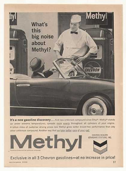 Chevron Dealer Methyl Gasoline Pumps (1960)