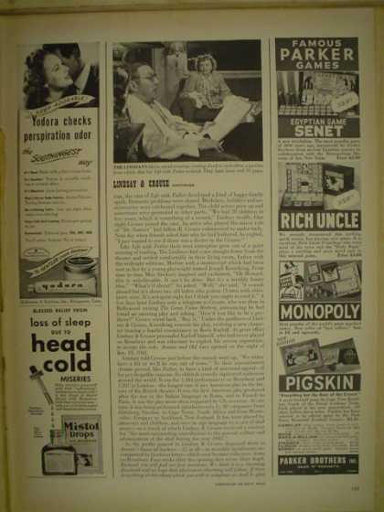 Parker Bros. Famous Parker Games. Monopoly Rich Uncle Pigskin (1946)