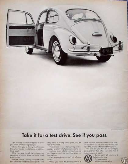 Volkswagen Beetle Bug Take It For Test Drive (1965)