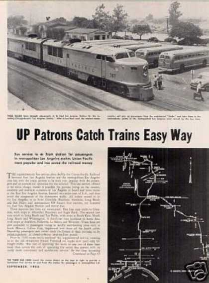"""Up Patrons Catch Trains Easy Way"" Article/la (1950)"