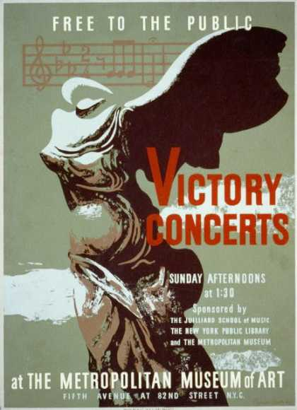 Victory concerts at the Metropolitan Museum of Art – Free to the public / Byron Browne. (1936)