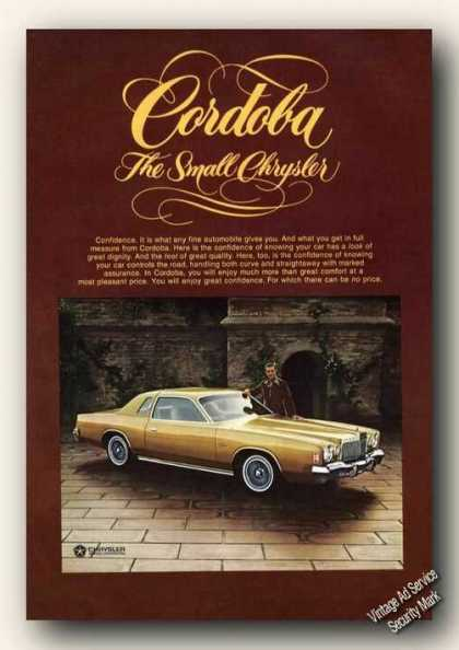 Cordoba the Small Chrysler Color Photo Promo (1976)