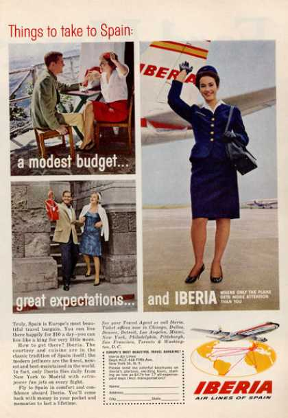 Iberia Air Lines of Spain Stewardess (1964)