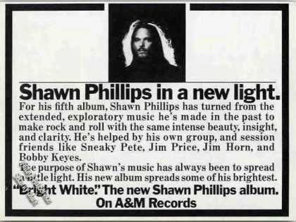 "Shawn Phillips ""Bright White"" Collectible (1974)"
