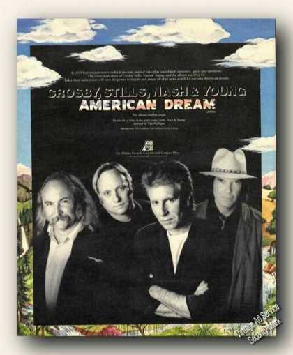 Crosby Stills Nash & Young Album Photo Ad Music (1988)