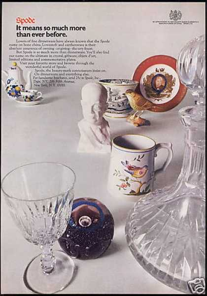 Spode China Giftware Crystal Photo (1971)