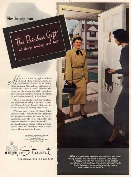 House of Stuart – She Brings You The Priceless Gift Of Always Looking Your Best (1950)