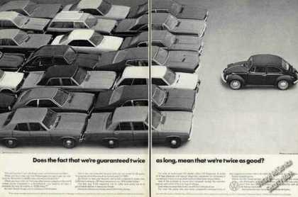 "Vw Volkswagen ""Guaranteed Twice As Long"" (1972)"