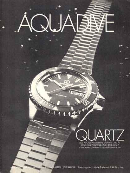 Aquadive Diving Scuba Diver Watch (1979)