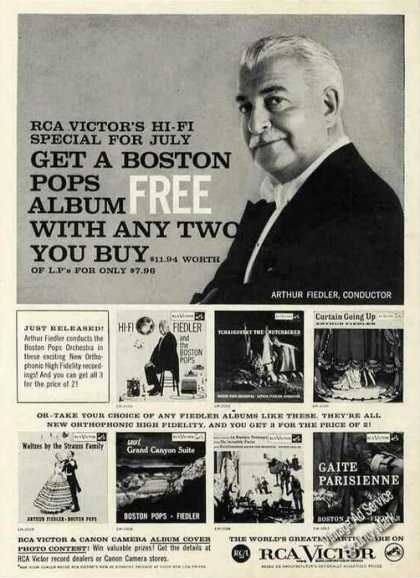 Arthur Fiedler Photo Boston Pops Rca Victor (1957)