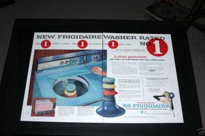Frigidaire Washer, Blue or Pink (1957)
