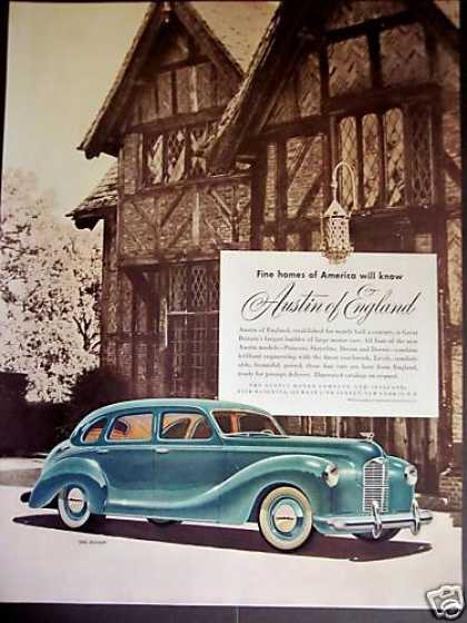 Austin of England Motor Car the Devon (1948)