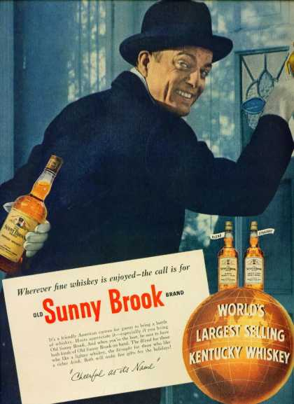 Old Sunny Brook Kentucky Whiskey C (1948)