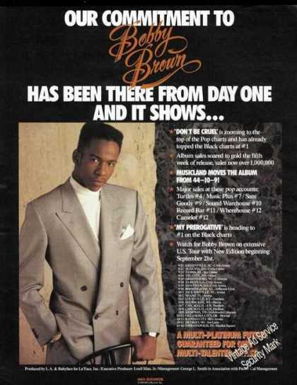 Bobby Brown Picture Album Promo & Tour Schedule (1988)