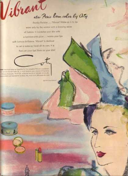 Coty's Vibrant Make-up (1946)